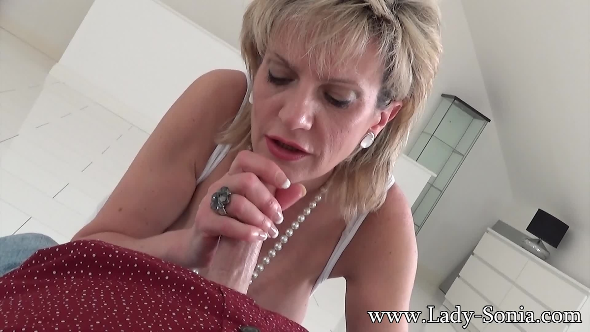 lady sonia - catching my friends son on the bed